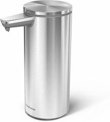 Simplehuman SENSOR Stalowy Automatyczny Dozownik do Mydła, Płynu, Żelu Antybakteryjnego - Akumulatorowy 266 ml Srebrny Matowy