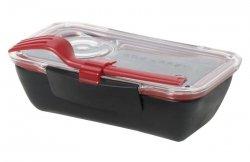 black+blum BENTO BOX Pojemnik Lunch Box - Czarno/Czerwony