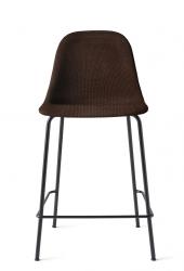 Menu HARBOUR SIDE Krzesło Barowe 102 cm Hoker Jasnoszary - Siedzisko Tapicerowane Odcień Brązowy