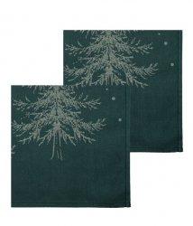 Sodahl CHRISTMAS WINTERLAND Bawełniane Serwetki Świąteczne 2 Szt. Zielone
