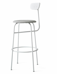 Menu AFTEROOM Stołek Krzesło Barowe 102 cm Hoker Tapicerowany Biały - White Melange
