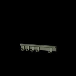 Muuto COIL Listwa - Wieszak Ścienny na Ubrania 60 cm Ciemnozielony
