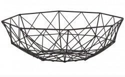 Villa Collection NORDIC Druciany Kosz na Owoce 31 cm Czarny