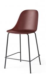 Menu HARBOUR SIDE Krzesło Barowe 102 cm Hoker Jasnoszary - Siedzisko Bordowe