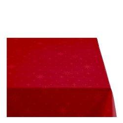 Sodahl CHRISTMAS STELLA Obrus Świąteczny na Stół 140x370 cm Czerwony