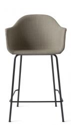 Menu HARBOUR Krzesło Barowe 102 cm Hoker Czarny - Siedzisko Tapicerowane Piaskowe