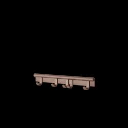 Muuto COIL Listwa - Wieszak Ścienny na Ubrania 60 cm Śliwkowy