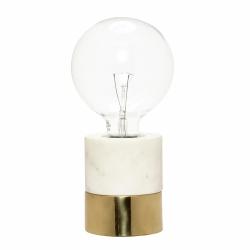 Hübsch PONG Lampa Stołowa - Biurkowa Marmurowa z Mosiężną Podstawą