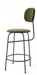 Menu AFTEROOM Krzesło Barowe 92 cm Hoker Czarny Tapicerowany - Tkanina City Velvet CA7832/031