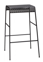 Hübsch NORDIC Krzesło Barowe - Hoker 76 cm Czarny