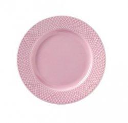 Lyngby Porcelain RHOMBE COLOR Talerz Płaski 21 cm Różowy