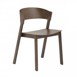 Muuto COVER SIDE Krzesło Drewniane - Ciemnobrązowe