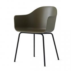 Menu HARBOUR Krzesło - Rama Czarna/Siedzisko Oliwkowe