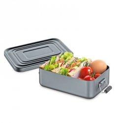 Küchenprofi TO GO Lunchbox - Metalowy Pojemnik na Lunch, Drugie Śniadanie - Szary