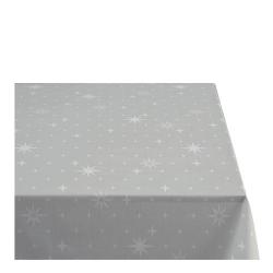 Sodahl CHRISTMAS STELLA Obrus Świąteczny na Stół 140x320 cm Szary