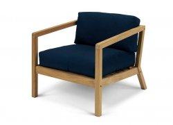 Skagerak VIRKELYST Krzesło - Fotel + Poducha Granatowa