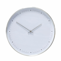 Hübsch CLOCK Zegar Ścienny 40 cm Srebrny