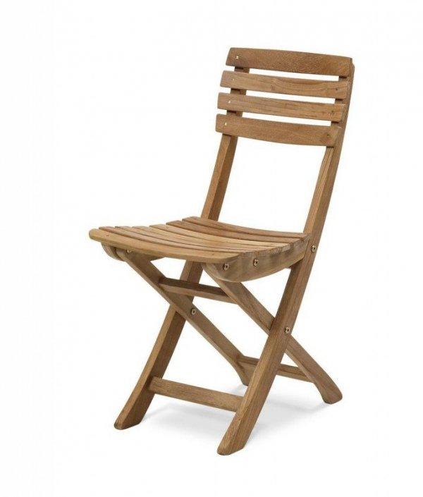 Skagerak VENDIA Krzesło Składane z Drewna Tekowego