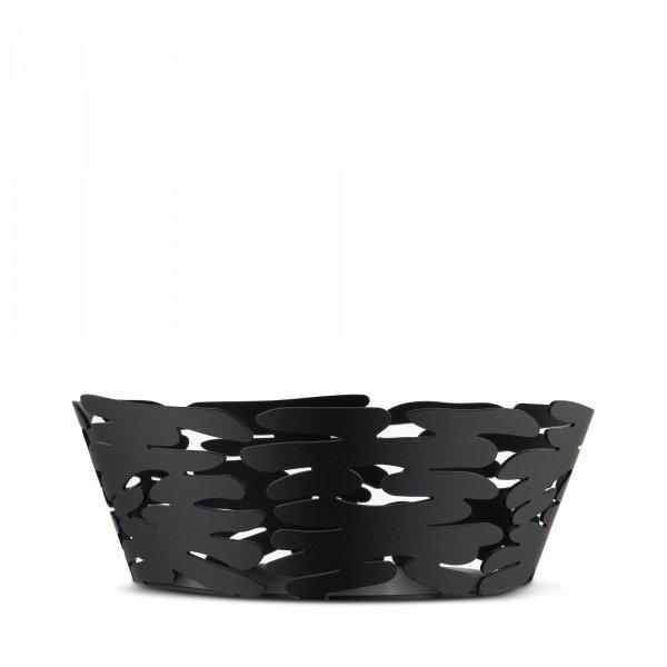 Alessi BARKET Misa - Kosz na Owoce 18 cm Czarny