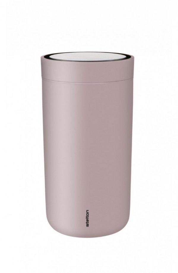 Stelton TO GO CLICK Stalowy Kubek Termiczny 200 ml Różowy Soft Lavender