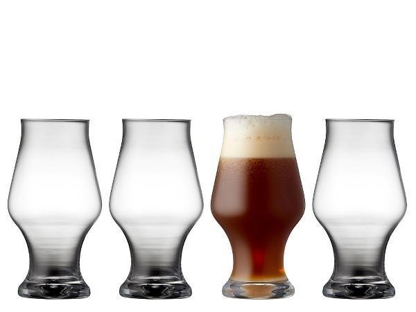 Lyngby Glass BEER Szklanki do Ciemnego Piwa 570 ml 4 Szt.