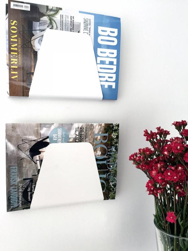 NUR Design Studio CURVE Uchwyt Ścienny na Gazety, Dokumenty - Biały