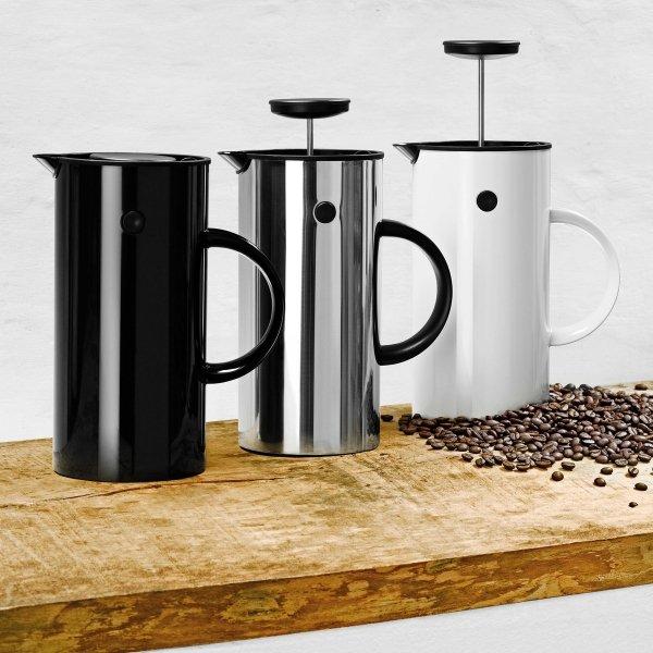 Stelton EM77 Zaparzacz Tłokowy do Kawy typu French Press- Czarny