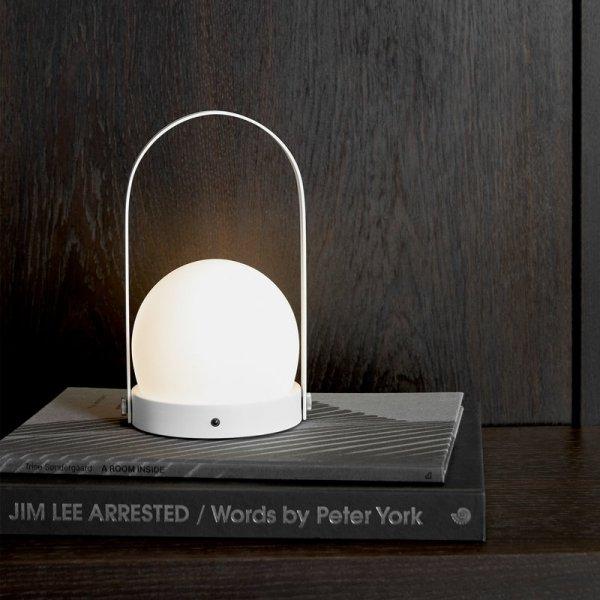 Menu CARRIE Lampion LED - Lampka Przenośna Burned Red