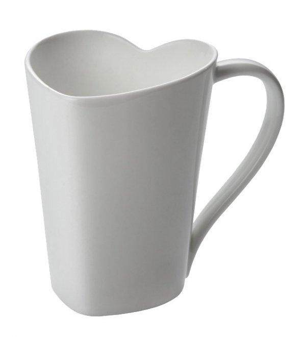 Alessi TO Kubek Porcelanowy Serce - Biały