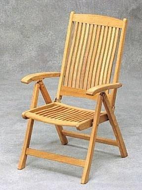 Skagerak COLUMBUS  Fotel Ogrodowy Składany - Drewno Tekowe