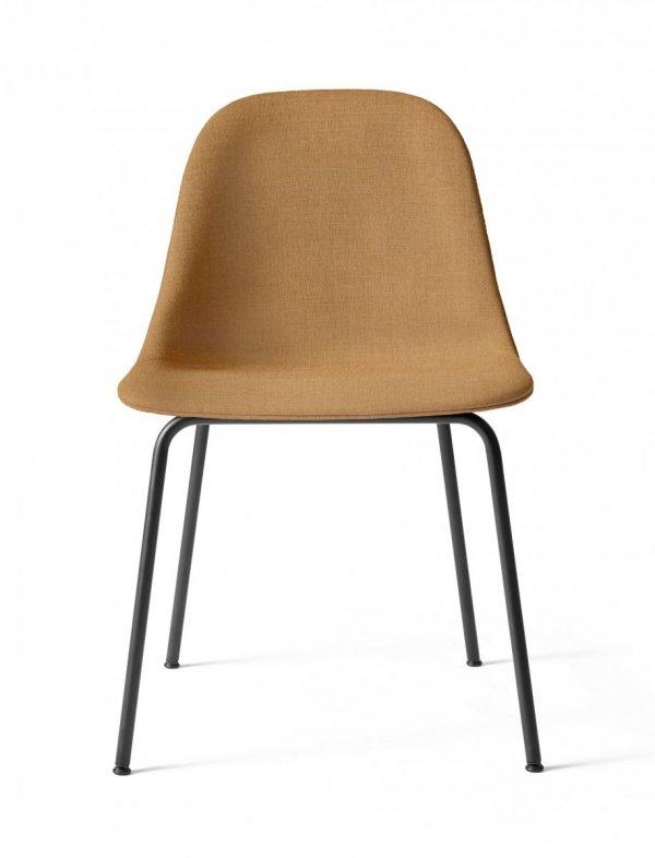 Menu HARBOUR SIDE Krzesło - Rama Czarna - Siedzisko Tapicerowane Miodowe
