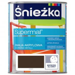 SUPERMAL EMALIA AKRYLOWA  BRĄZ  0,4L  MAT