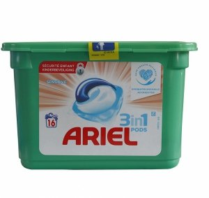 Ariel Sensitive 3in1 kapsułki do prania 16 szt.