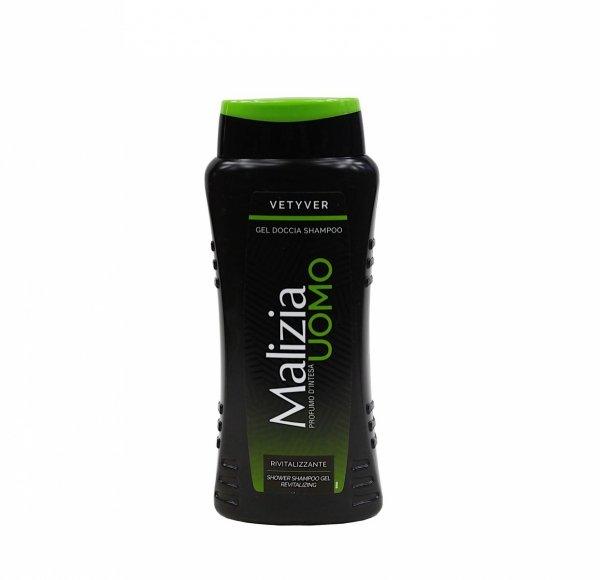 Malizia Uomo Vetyver żel i szampon 2w1 250 ml