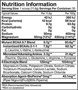 Mutant BCAA 9.7 348g