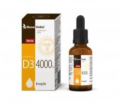 Bene Vobis - Witamina D3 4000IU w oleju MCT z kokosa - 30 ml