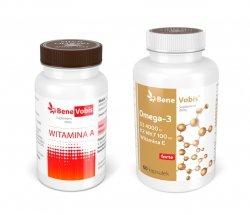 --- ZESTAW 1+1 ---  (OMEGA-3 + ADEK) Witamina A + Ω3 z witaminami DEK - 2 x 60 kaps.