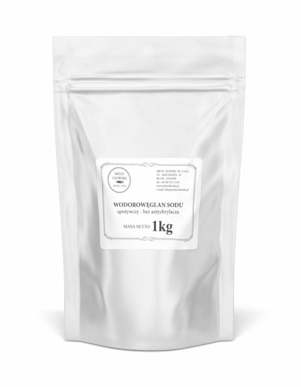 Wodorowęglan sodu -  spożywczy -  Soda Oczyszczona - bez antyzbrylacza - 1kg