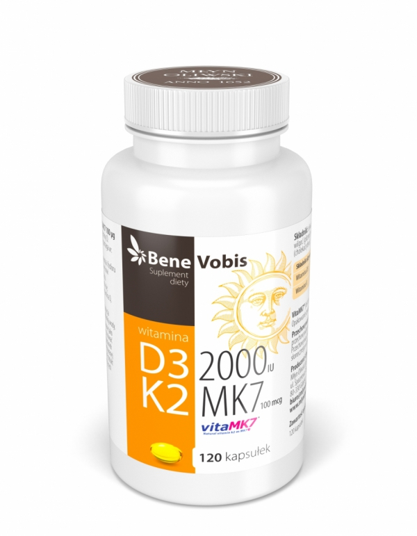 Witamina D3 2000IU + K2 MK7