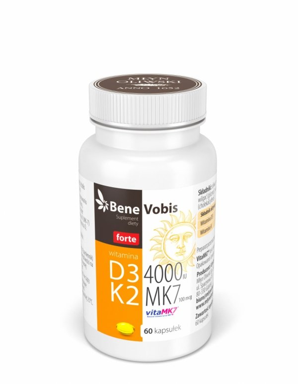 Witamina D3 4000IU+K2 MK7