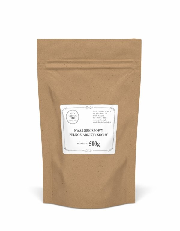 Kwas orkiszowy (pełnoziarnisty) - suchy - proszek - 500g