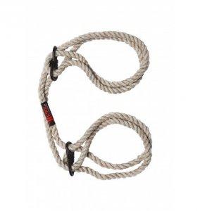 Kink Hogtied Bind & Tie 6mm Hemp Wrist or Ankle Cuffs Natural