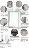 Drzwi balkonowe PCV 865x2295 rozwierne lewe białe