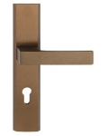 Klamka do drzwi bezpieczna TOTAL PATYNA LEWA 72mm