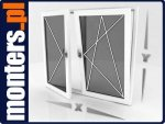 Okno PCV R+UR 2065x1435 białe EKOSUN