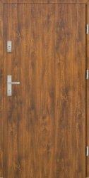 Drzwi PTZ55 90E Prawe Złoty dąb Gładkie 1001x2075