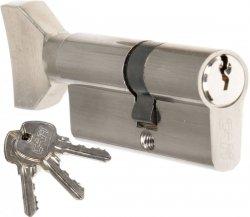 Wkładka z gałką CAM EKO 30/45 G nikiel zamka drzwi