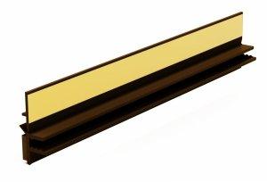 Listwa przyokienna Apu z uszczelką orzech 1,5m