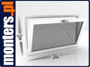 Okno PCV 865x535 uchylne obustronny kolor OVLO 80mm