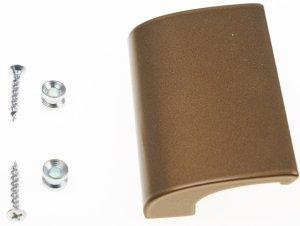 Pochwyt balkonowy do drzwi aluminiowy złoty DELUXE+SZABLON